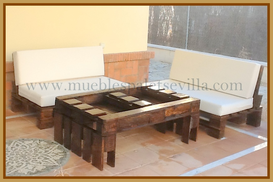 Conjunto muebles jardin y terraza sevilla madrid barcelona for Muebles chill out exterior